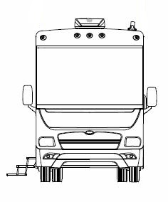 Winnebago Front View - Sketch